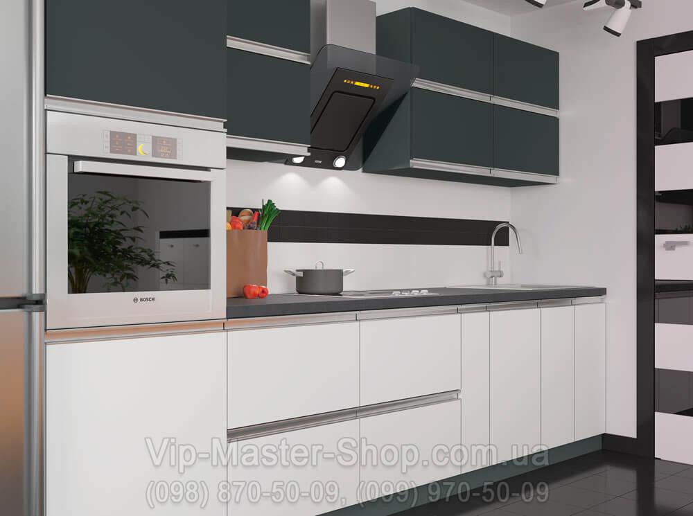 """Кухня """"Альбина"""" Антрацит\Белый"""