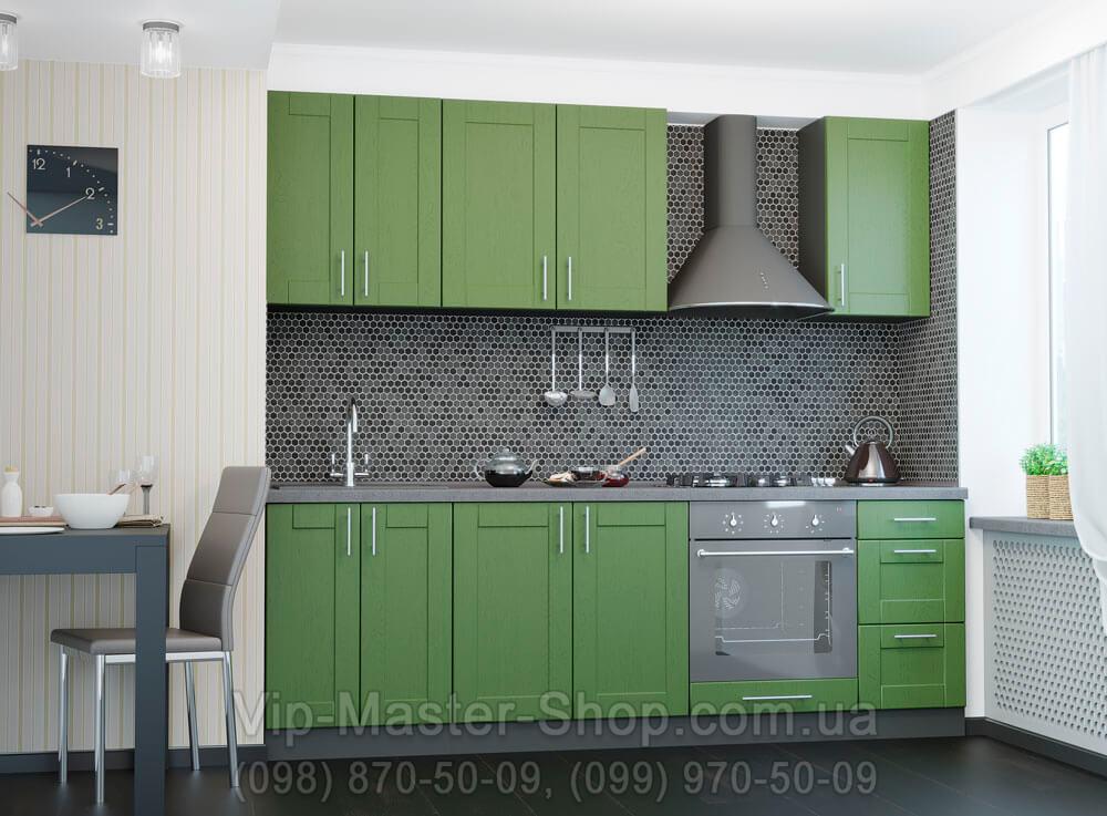 """Кухня """"Квадро"""" Темно-зеленый"""