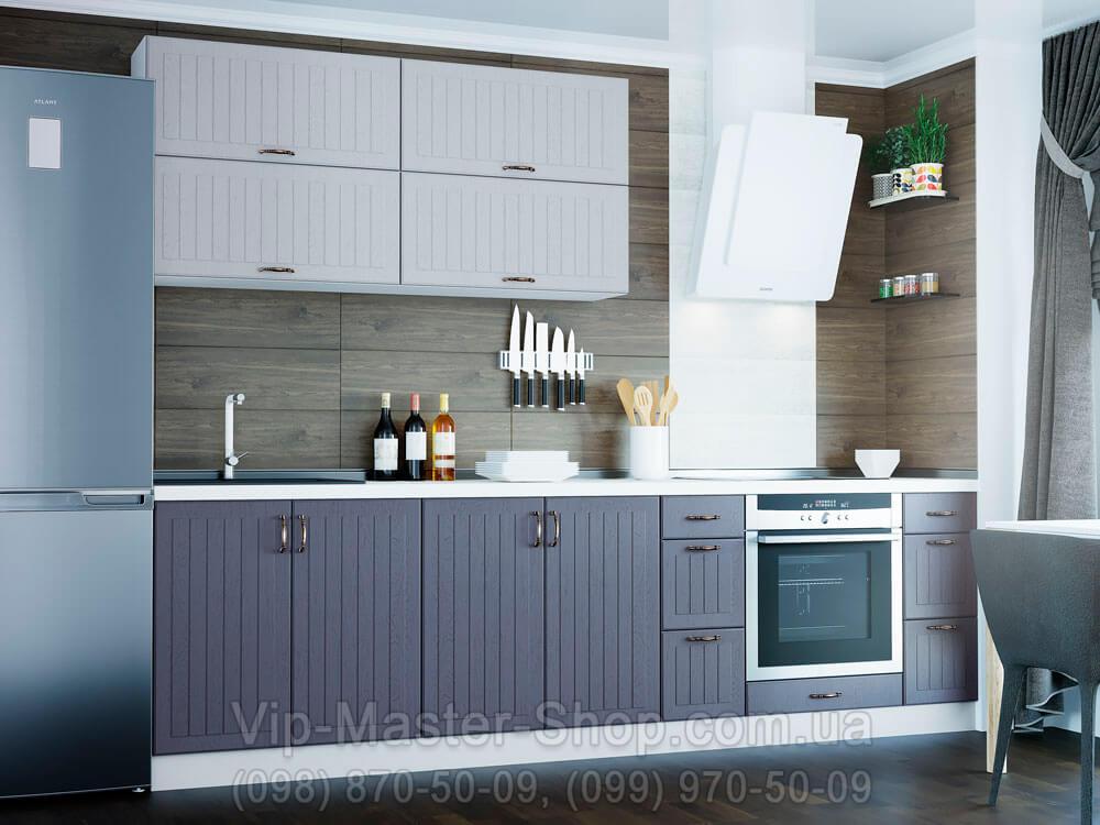 """Кухня """"Верона"""" Белый Темно-синий"""