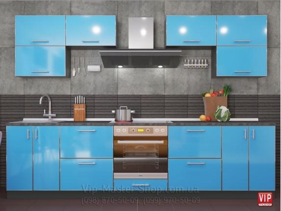"""Кухня """"Mirror Gloss"""" Аква"""