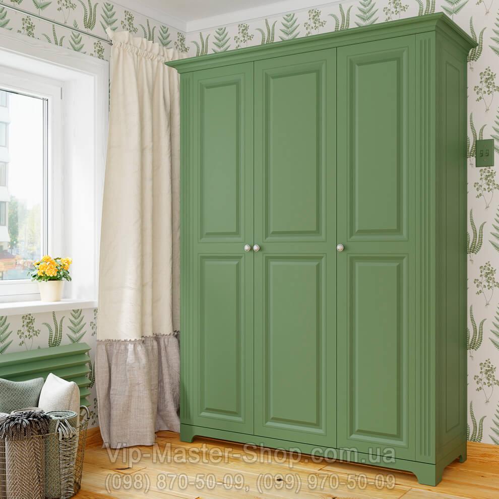 Фото Распашной шкаф Марсель Зеленый Вип-Мастер