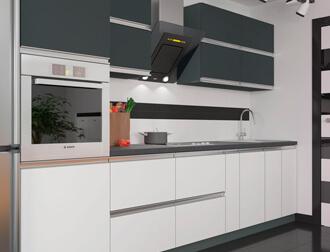 """Фото Кухня """"Альбина"""" Антрацит\Белый"""