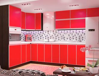 """Фото Кухня """"Альта"""" Красный"""