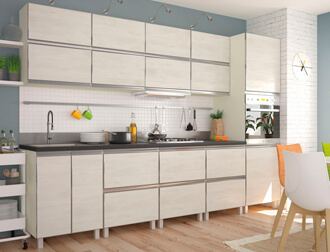 "Фото Кухня ""Альта"" Дуб крафт белый AL"