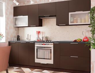 """Фото Кухня """"FLAT"""" Шоколад"""