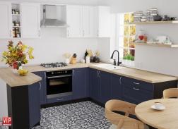 """Кухня """"Кредо"""" Темно-синий"""