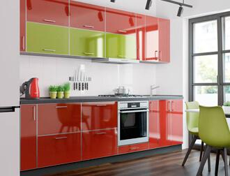 """Фото Кухня """"M. Gloss"""" Чили Оливка AL"""