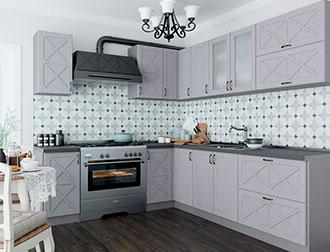 """Фото Кухня """"Парма"""" Серый"""