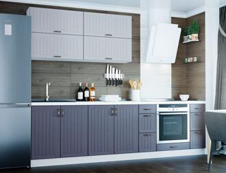"""Фото Кухня """"Верона"""" Белый Темно-синий"""
